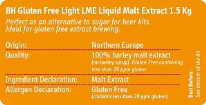 Certified Gluten Free Light Liquid Malt Extract 1.5 Kg Can